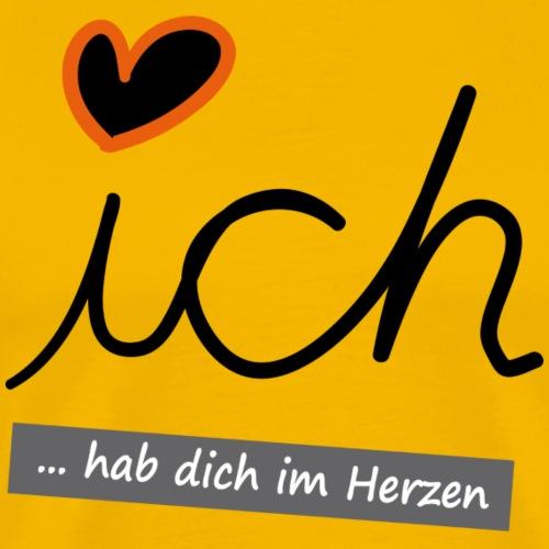 Valentinstag ICH HAB DICH IM HERZEN - Männer Premium T-Shirt