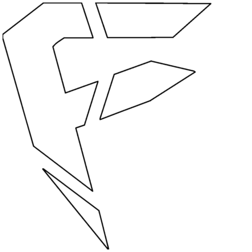 F Logo in Weiß - Männer Premium T-Shirt