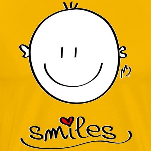 smiles Smilie - Männer Premium T-Shirt