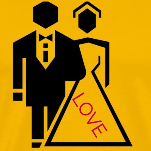 Brautpaar - Männer Premium T-Shirt