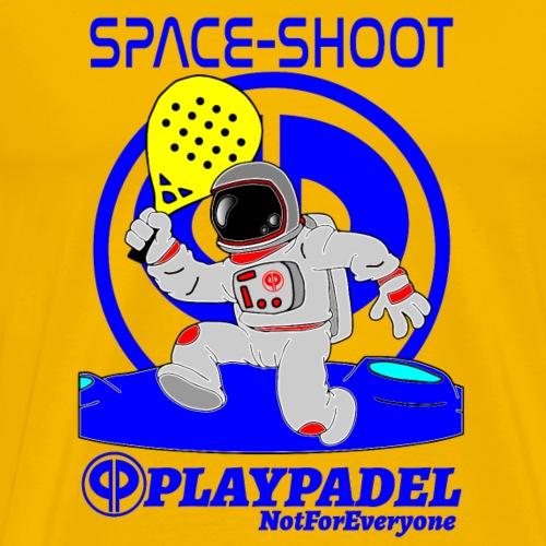 PLAYPADEL SpaceShootBlu - Maglietta Premium da uomo