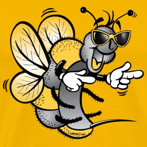 HAPPY BEE, ILOINEN MEHILÄINEN Textiles and Gifts - Miesten premium t-paita