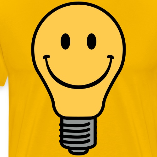 Oldschool lightbulb - Men's Premium T-Shirt