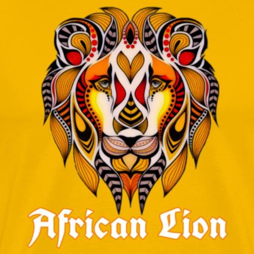 African Lion - T-shirt Premium Homme