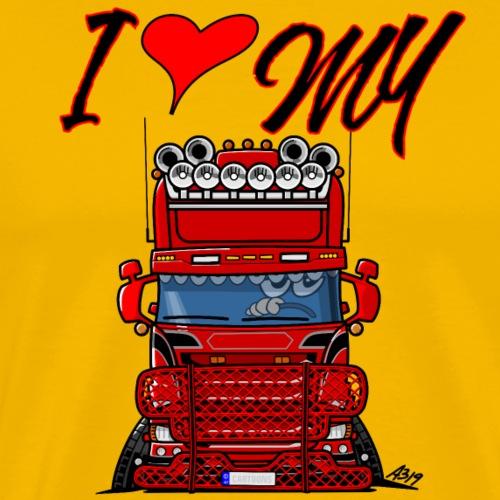 0777 i love my - Mannen Premium T-shirt