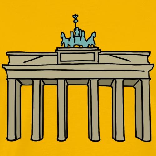 Brandenburger Tor Berlijn c - Mannen Premium T-shirt