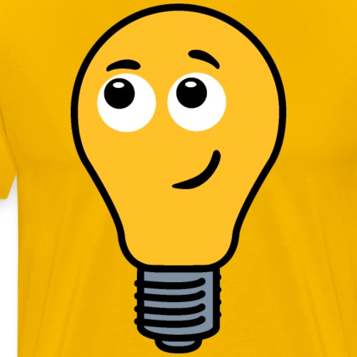 Shy Lightbulb - Men's Premium T-Shirt
