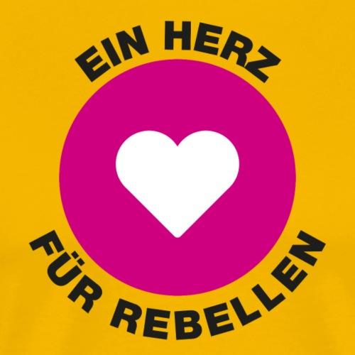 Kopffuessler Button Rebellen schwarz - Männer Premium T-Shirt