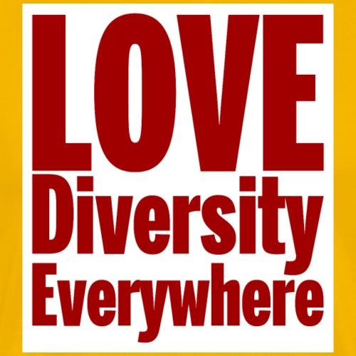 Love, diversity, Everywhere- red text - Men's Premium T-Shirt