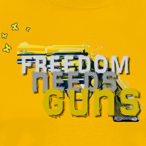 Freedom needs guns! - Männer Premium T-Shirt
