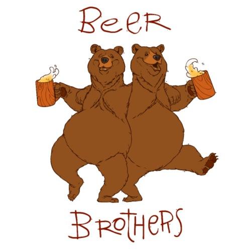 BEER BROTHERS - Koszulka męska Premium