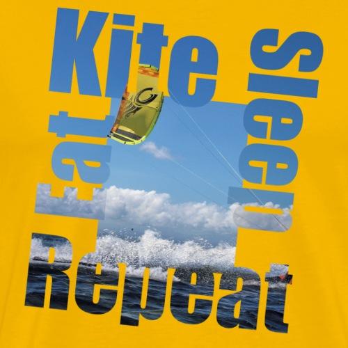Eat.Kite.Sleep.Repeat - Mannen Premium T-shirt