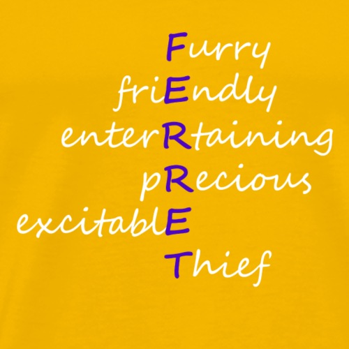 Ferret Acrostic (Blue) - Men's Premium T-Shirt