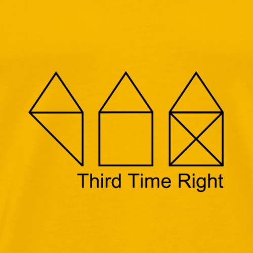 Third Time Right - Männer Premium T-Shirt