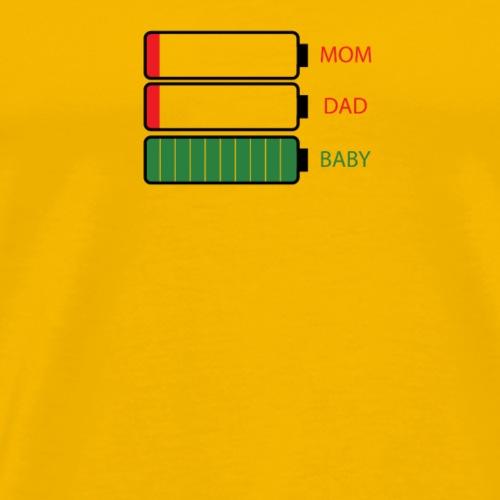 Energie Papa Maman Bébé - T-shirt Premium Homme