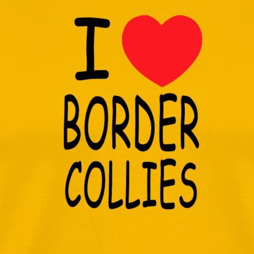 i love border collies - Männer Premium T-Shirt