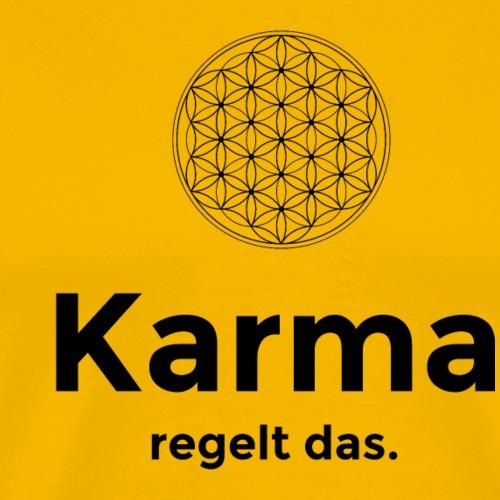 Blume des Lebens - Karma - Männer Premium T-Shirt