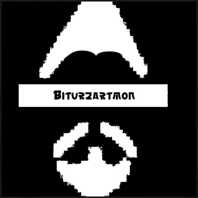 Biturzartmon Logo weiss/schwarz asiatisch