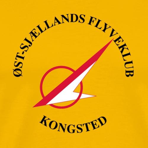 Øst Sjællands flyveklub Logo (hvidt fly) - Herre premium T-shirt