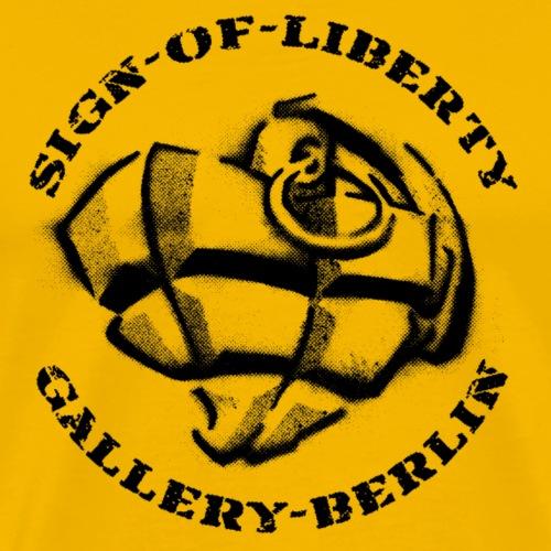 Sign-of-Liberty Gallery Berlin schwarz - Männer Premium T-Shirt