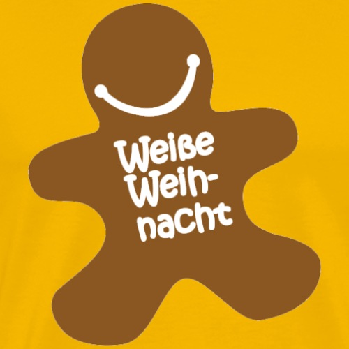 Weiße-Weihnacht-Logo - Männer Premium T-Shirt