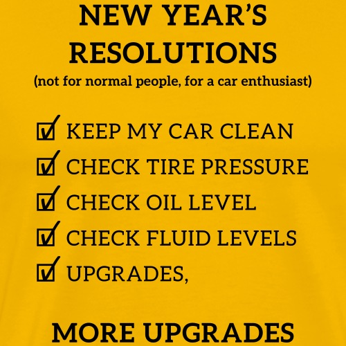 JDM New year resolution | T-shirts JDM - T-shirt Premium Homme
