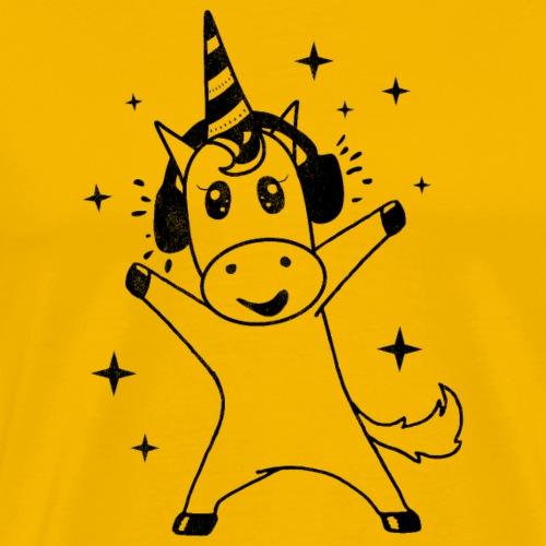 Musically Unicorn - Männer Premium T-Shirt