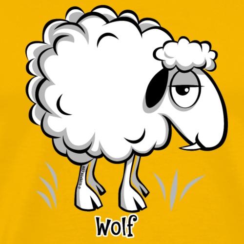 WOLF SHEEP- SUSI LAMMAS TUOTTEET 10-47 - Miesten premium t-paita