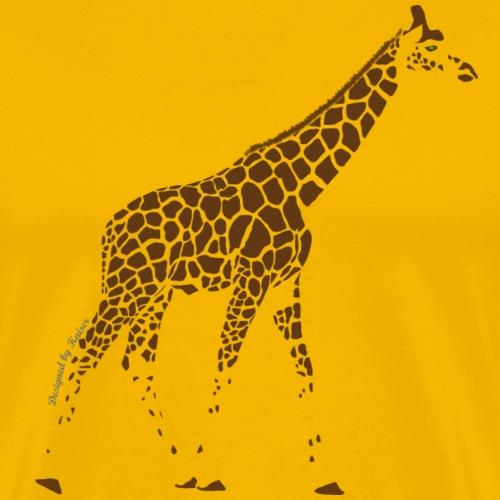 Giraffe-1-3-Marron-F- - T-shirt Premium Homme