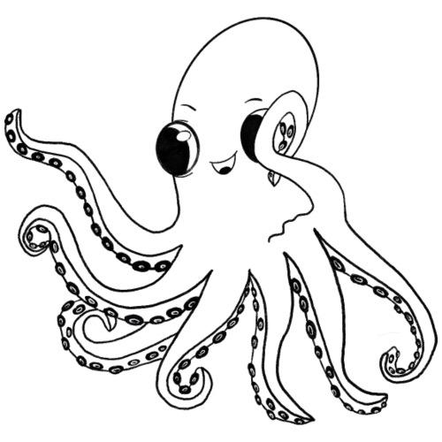 Little octopus - Men's Premium T-Shirt