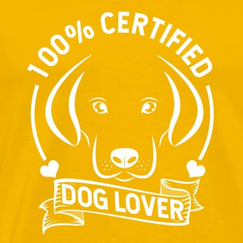 Zertifizierter Hundeliebhaber - Männer Premium T-Shirt