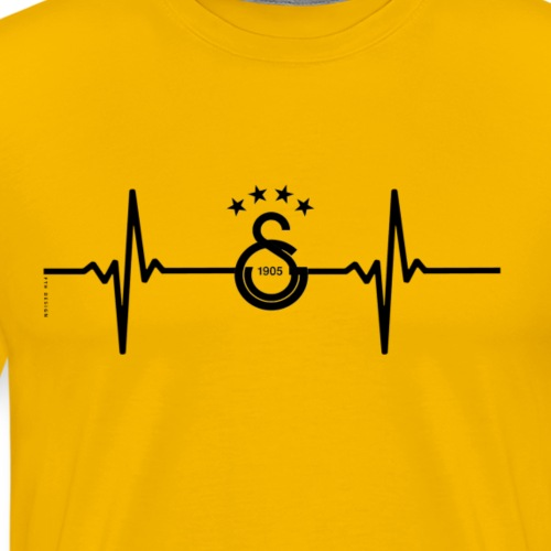 Galatasaray Heartbeat - Herre premium T-shirt