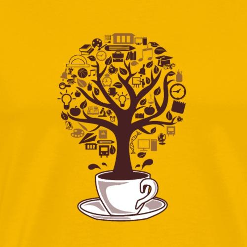 Kaffeebaum - Männer Premium T-Shirt