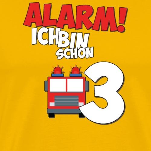 Feuerwehrauto 3. Geburtstag Jungen 3 Jahre - Männer Premium T-Shirt