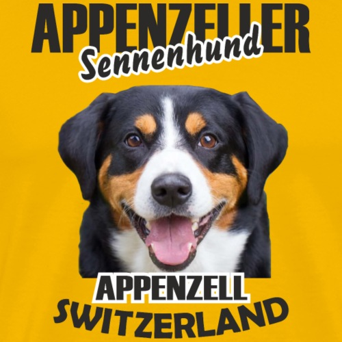 Appenzeller Sennenhund Schweiz Hoodie bedrucken - Männer Premium T-Shirt