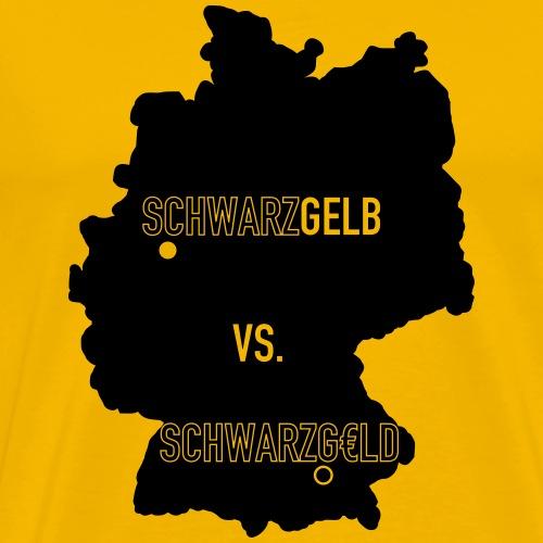 Schwarzgelb vs Schwarzgeld - Männer Premium T-Shirt