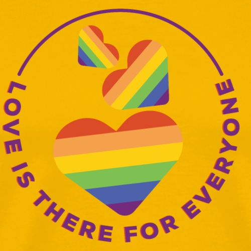 Love is there for everyone - Männer Premium T-Shirt