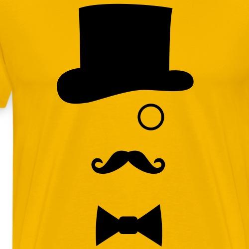 Chapeau Monocle Moustaches Nœud papillon - T-shirt Premium Homme