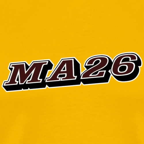 Logo MA26 texto - Camiseta premium hombre