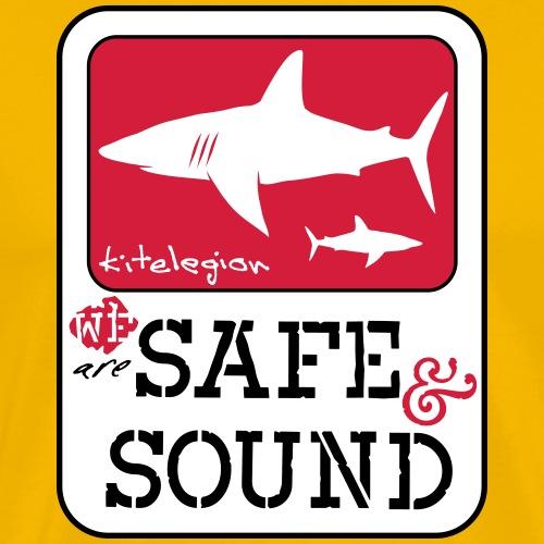 safe&sound shark1 surf_v3 en - Men's Premium T-Shirt