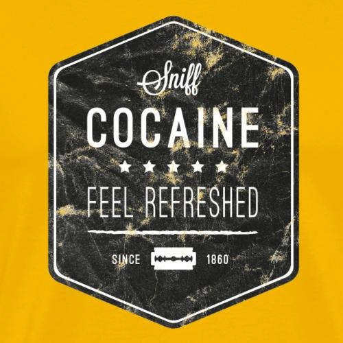 Sniff Cocaine Vintage - Männer Premium T-Shirt