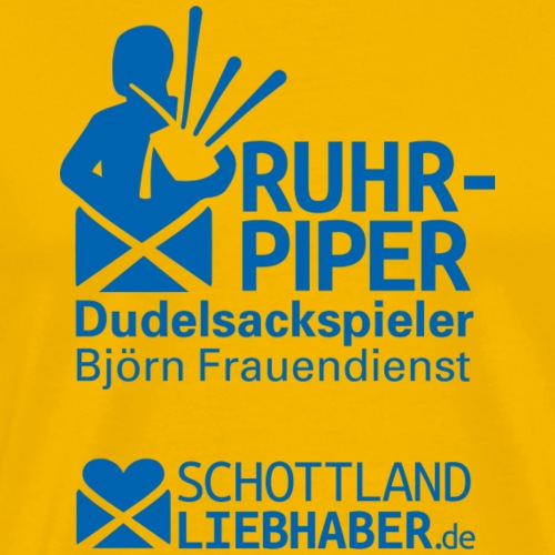 Logos Ruhr-Piper & Schottlandliebhaber.de - Männer Premium T-Shirt