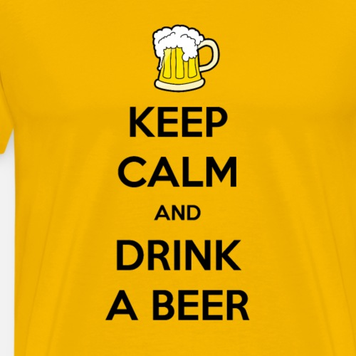 Keep Calm and Drink a Beer - Mannen Premium T-shirt