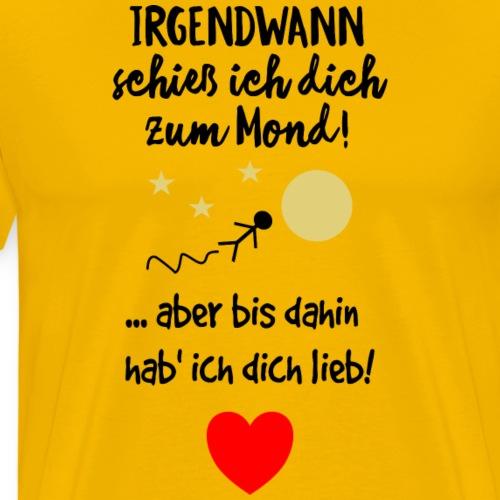 Hab dich lieb Liebe Spruch - Männer Premium T-Shirt