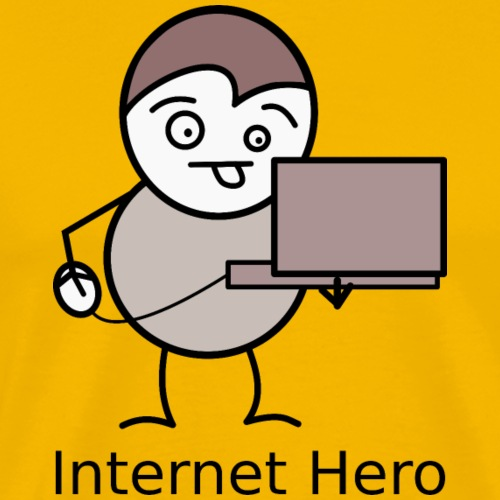 internet hero - Men's Premium T-Shirt