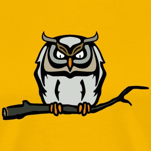 Eule Nightowl Nightmare Uhu Waldkauz - Men's Premium T-Shirt