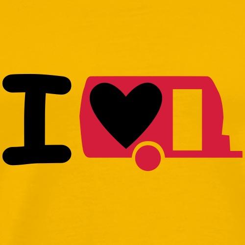 I love meinen Wohnwagen - Männer Premium T-Shirt