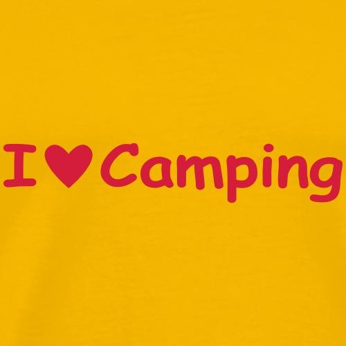 I love camping uni001 - Männer Premium T-Shirt
