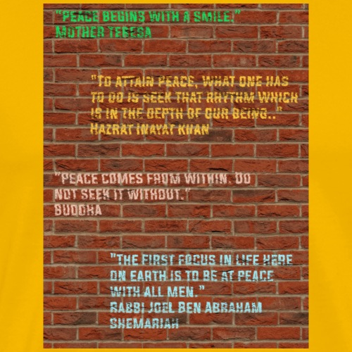Peace Wall - Men's Premium T-Shirt