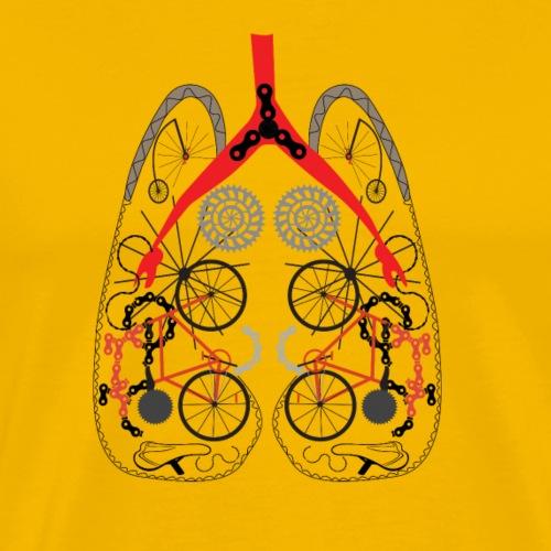 Radfahrerlunge aus Fahrradteilen - Männer Premium T-Shirt